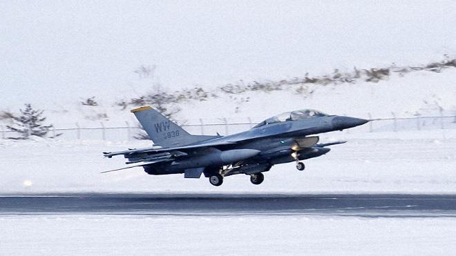 Máy bay F16 của Mỹ thả bom giả ngoài phạm vi bãi tập ở Nhật Bản