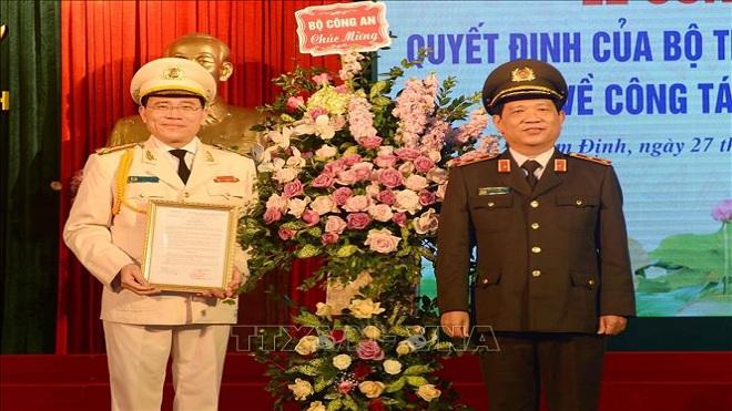 Bổ nhiệm Giám đốc Công an tỉnh Nam Định và Giám đốc Công an tỉnh Vĩnh Phúc