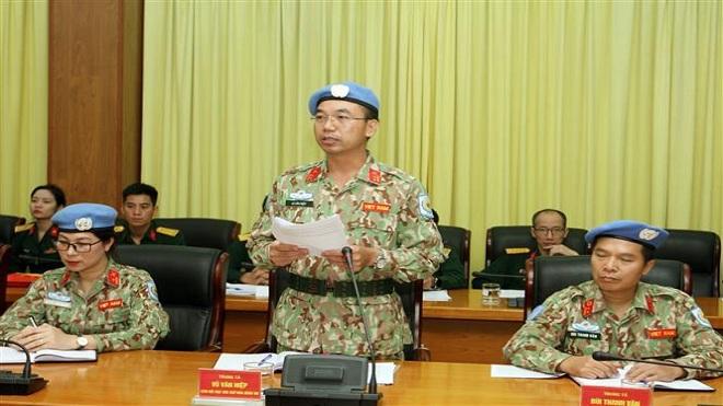 Thêm 2 sĩ quan đi làm nhiệm vụ gìn giữ hòa bình tại Phái bộ Nam Sudan