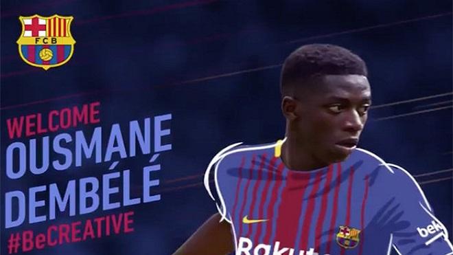 CHÍNH THỨC: Dembele gia nhập Barcelona với giá 105 triệu euro