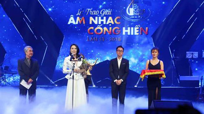 Giải Âm nhạc Cống hiến góp phần xây dựng nền âm nhạc đại chúng mang bản sắc dân tộc