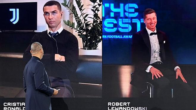 Ronaldo hờn giỗi vì Lewandowski thắng giải The Best