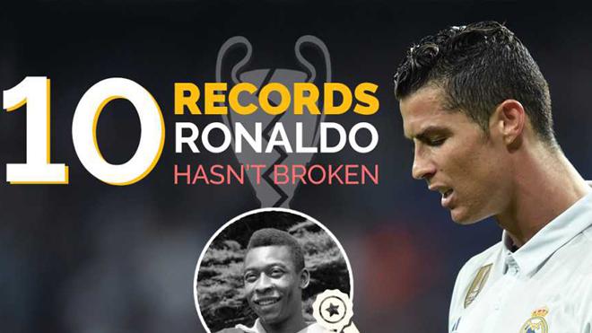 10 kỷ lục mà Cristiano Ronaldo không thể chinh phục