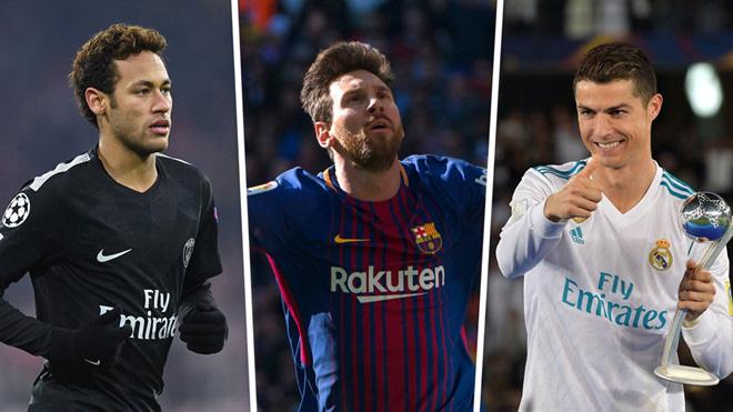 Neymar trả lời gây choáng khi được hỏi về Messi và Ronaldo
