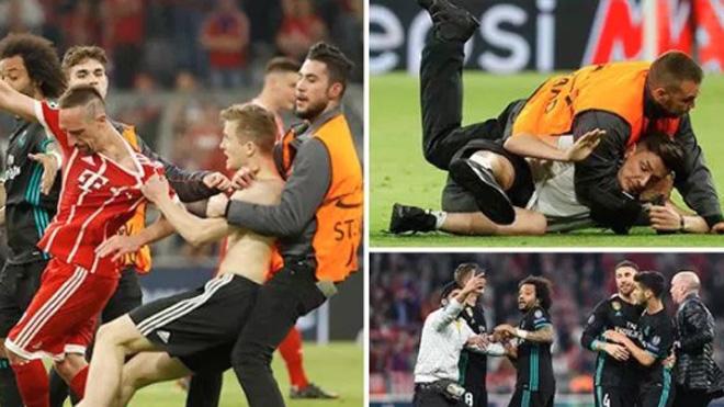 Fan cuồng vào sân gây náo loạn, Ronaldo bực mình, khó chịu ra mặt