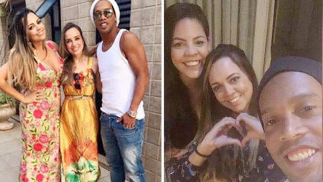 SỐC! Ronaldinho cưới 'chui' 2 vợ cùng lúc, cùng sống rất hạnh phúc, ôn hòa