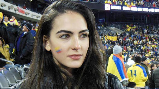 Nữ CĐV tuyệt sắc của Colombia khiến cộng đồng mạng đổ xô đi tìm danh tính