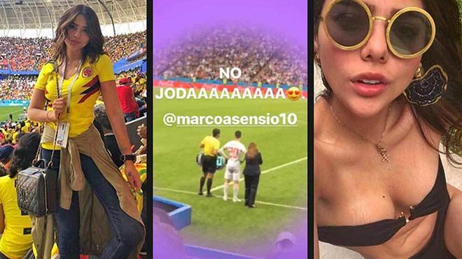 Em gái James Rodriguez khoe nhan sắc vạn người mê trên khán đài World Cup