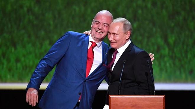 Chủ tịch FIFA: 'World Cup đã thay đổi nhận thức về nước Nga'