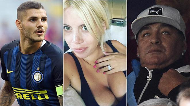 Chấn động làng bóng đá Argentina:Maradona từng qua đêm với… vợ Mauro Icardi