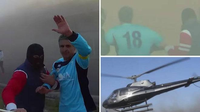 VIDEO: Cầu thủ Italy dàn cảnh bị bắt cóc bằng trực thăng ngay giữa trận đấu