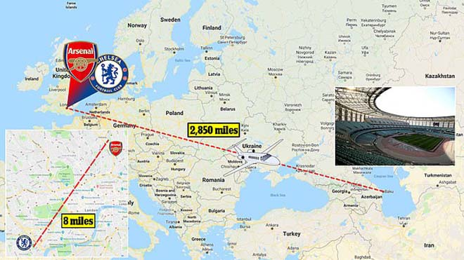 Arsenal đấu Chelsea ở Baku: CĐV kêu trời vì vé, hành trình thảm họa