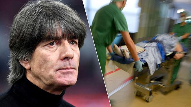 Joachim Loew bị tạ đè lên ngực phải nhập viện, Đức vắng HLV ở vòng loại EURO