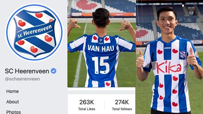 Fanpage của SC Heerenveen tăng lượt theo dõi kỉ lục chỉ 3 ngày sau khi mua Văn Hậu