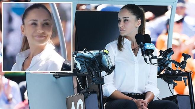 Tennis: Sắc đẹp của nữ trọng tài quần vợt 'chiếm sóng' trận đấu của Roger Federer