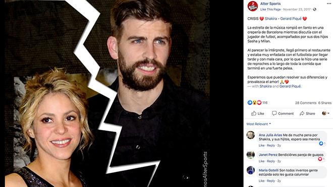 Pique và Shakira khủng hoảng lần 2