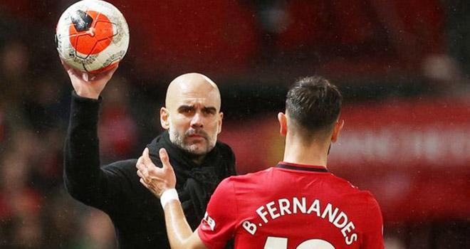 MU, Tin bóng đá MU, MU 2-0 Man City, Bruno Fernandes phản ứng với Guardiola, Tin tức MU, Bruno Fernandes, Pep Guardiola, Ole Solskjaer, kết quả Ngoại hạng Anh, bong da