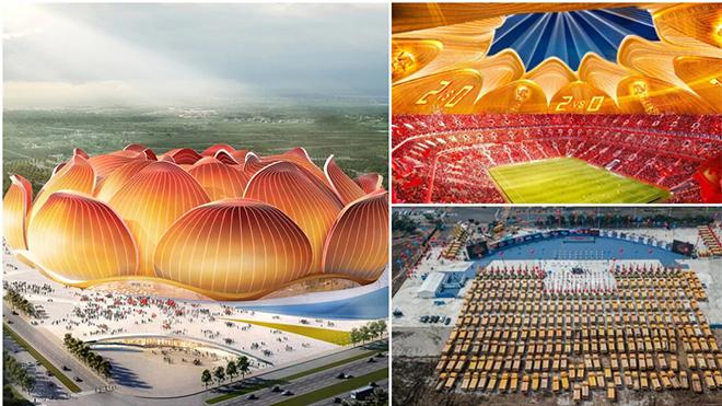Cận cảnh sân vận động hình hoa sen lớn nhất thế giới của đội bóng Trung Quốc
