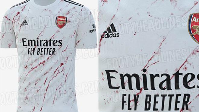 Arsenal bị chỉ trích tơi bời vì mẫu áo đấu 'máu me bê bết'