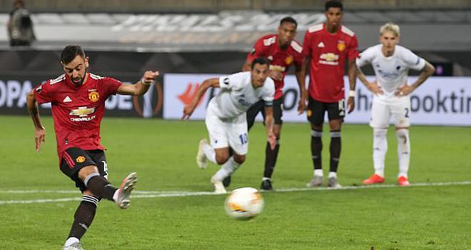 MU 1-0 Copenhagen, Solskjaer ca ngợi cách đá penalty của Bruno Fernandes, Cúp C2, Kết quả Cúp C2, Kết quả Europa League, Bruno Fernandes đá phat đền, Bruno Fernandes, M.U