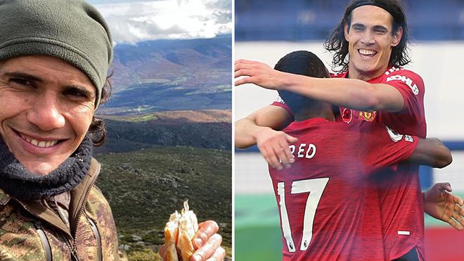 Cavani lên núi ăn mừng bàn thắng đầu tiên cho MU