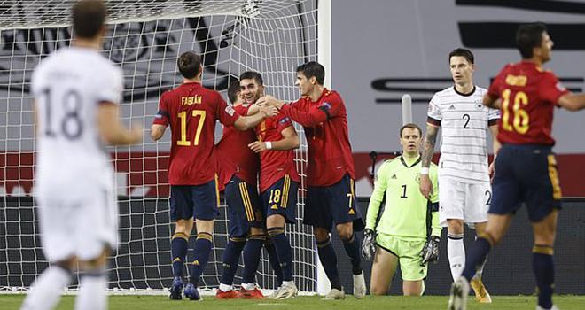 Ket qua bong da, Tây Ban Nha vs Đức, Kết quả UEFA Nations League, Kqbd, kết quả Tây Ban Nha vs Đức, video Tây Ban Nha vs Đức, Tây Ban Nha 6-0 Đức, UEFA Nations League, MU