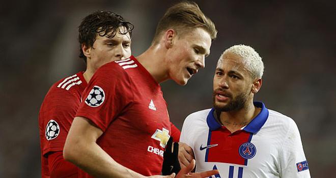 MU, MU 1-3 PSG, MU vs PSG, tin bóng đá MU, Neymar, Neymar đánh McTominay, Solskjaer, Fred, bóng đá, tin bóng đá, bong da hom nay, tin tuc bong da, tin tuc bong da hom nay