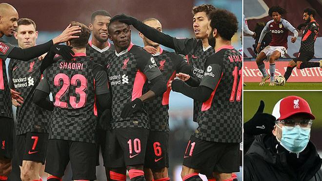 Aston Villa 1-4 Liverpool: Ghi 3 bàn trong 5 phút, Liverpool vùi dập đội hình trẻ của Villa