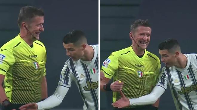 Hài hước tình huống Ronaldo đòi xem đồng hồ của trọng tài vì không tin Goal-line
