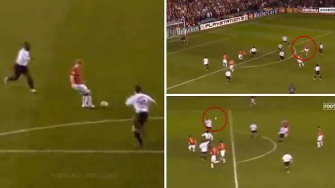 Chiêm ngưỡng pha kiến tạo hoàn hảo của Scholes cho Rooney 14 năm trước