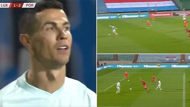 Ronaldo bỏ lỡ khó tin dù đối mặt thủ môn và không bị kèm