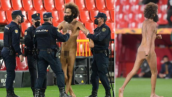CĐV trần như nhộng vào sân gây rối trận MU vs Granada