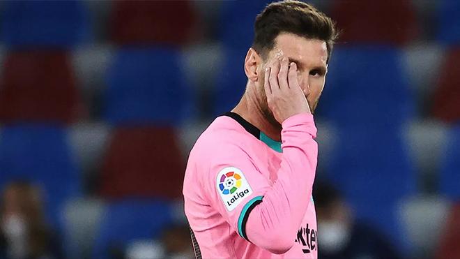 Levante 3-3 Barcelona: Messi tỏa sáng rồi mắc sai lầm, Barca ngày càng xa chức vô địch