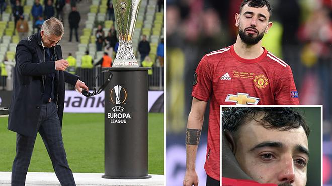 Bruno Fernandes khóc, Pogba gỡ huy chương khi MU thua chung kết Europa League