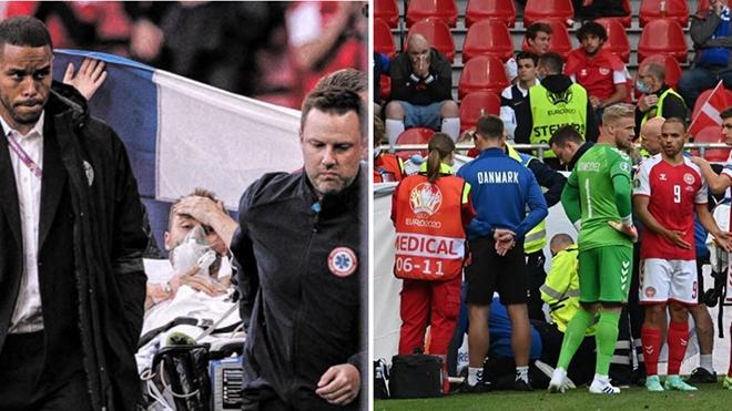 Tin EURO 13/6: Eriksen qua cơn nguy kịch. Sao Bỉ chấn thương kinh hoàng, rời EURO