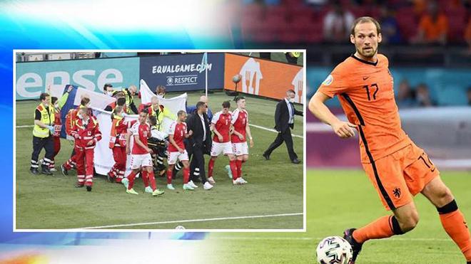 Daley Blind suýt từ chối đá trận Hà Lan-Ukraine vì sự cố của Eriksen