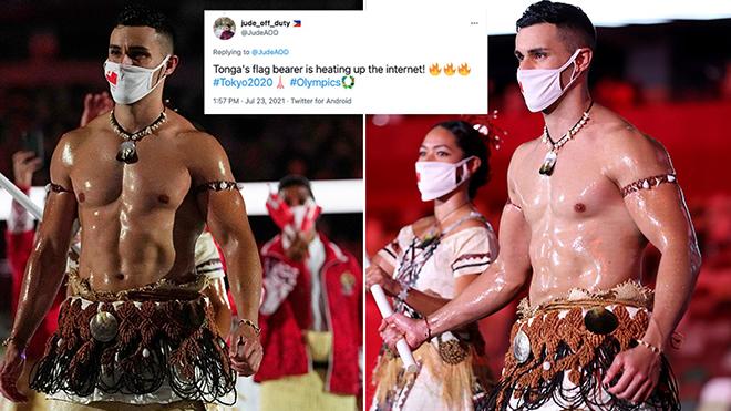 VĐV ngực trần gây sốt ở lễ khai mạc Olympic Tokyo