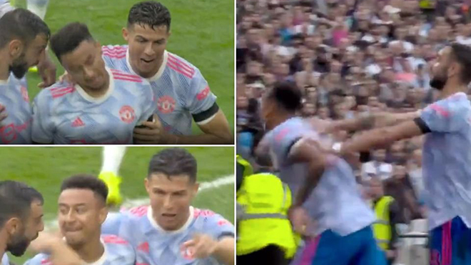 Ronaldo và Bruno Fernandes ép Lingard ăn mừng chiến thắng của MU
