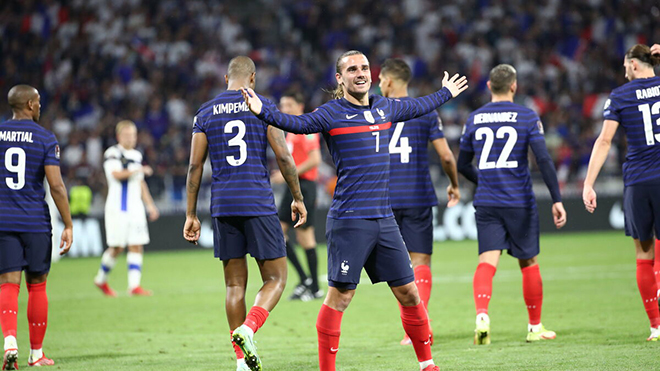 Vòng loại World Cup 2022: Griezmann ghi cú đúp cho Pháp, Depay lập hat-trick giúp Hà Lan lên đầu