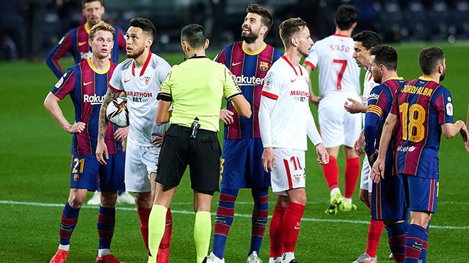 Trận Barca vs Sevilla ở Liga phải hoãn vì vòng loại World Cup