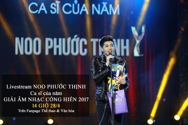 Noo Phước Thịnh đoạt giải Cống Hiến