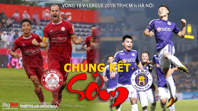 V.League 2019 vòng 18: 'Chung kết sớm' TPHCM vs Hà Nội (VTV6 trực tiếp bóng đá)