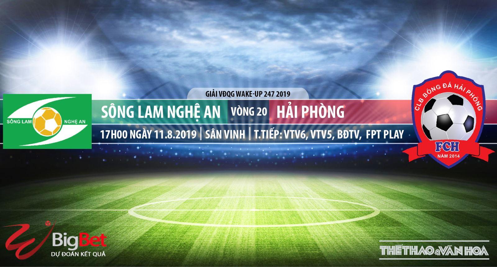 trực tiếp bóng đá, SLNA vs Hải Phòng, truc tiep bong da, Sông Lam Nghệ An đấu với Hải Phòng, VTV6, VTV5, truc tiep bong da hôm nay, V League, xem bóng đá trực tuyến