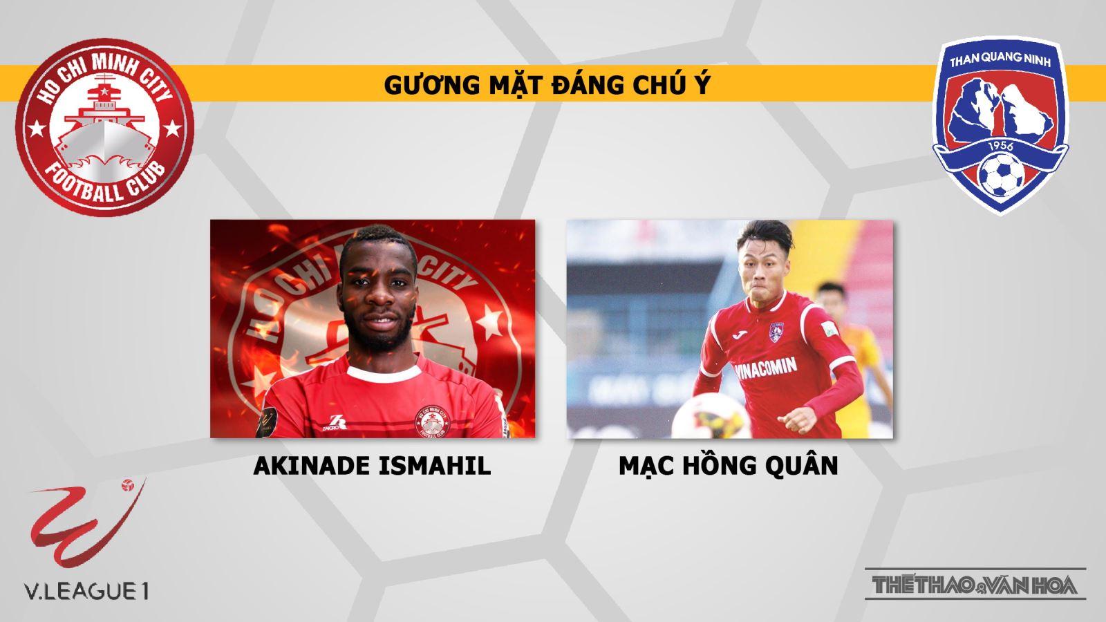 truc tiep bong da hôm nay, CLB TP.HCM đấu với Than Quảng Ninh, trực tiếp bóng đá, CLB TP.HCM vs Than Quảng Ninh, V League, Than Quảng Ninh, xem trực tuyến, VTV6, thể thao TV, TTTV, BĐTV, FPT Play