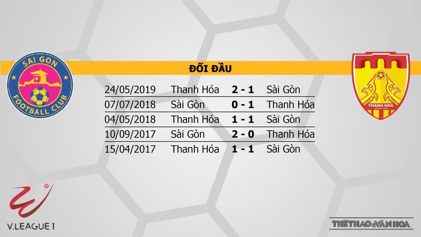 trực tiếp bóng đá, Sài Gòn vs Thanh Hóa, Sài Gòn đấu với Thanh Hóa, soi kèo bóng đá, truc tiep bong da, bong da hom nay, V-League 2019, VTV6, Bóng đá TV, FPT Play
