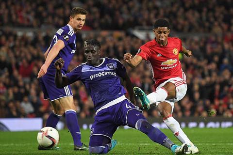 Chân sút 19 tuổi vừa ghi bàn thắng thứ 10 cho Man United trong trận với Anderlecht vừa qua