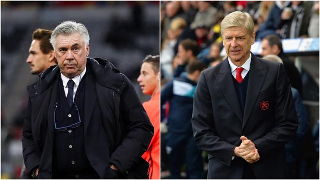 Ancelotti sẵn sàng thế chỗ Wenger ở Arsenal