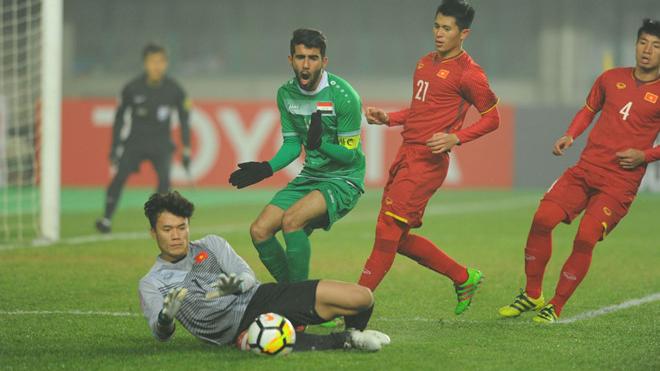 Xem 'soái ca' Bùi Tiến Dũng và khoảnh khắc ôm gọn quả 11m của U23 Iraq