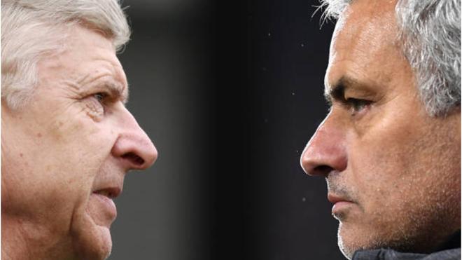 Wenger: 'Chắc fan M.U đã thôi ghét tôi'.  Mourinho: 'Tôi muốn đối đầu Wenger nhiều hơn'