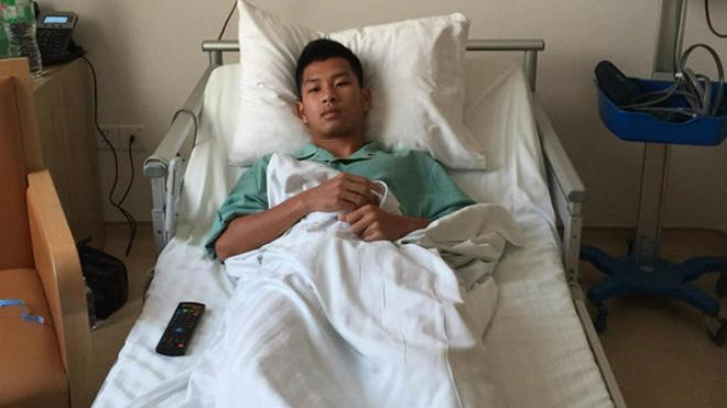 Đạp gãy xương sườn cầu thủ Khánh Hòa, Hải Huy bị treo giò 3 trận